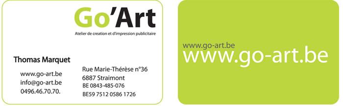 Carte de visite Go'Art | Bélinda Dessoy