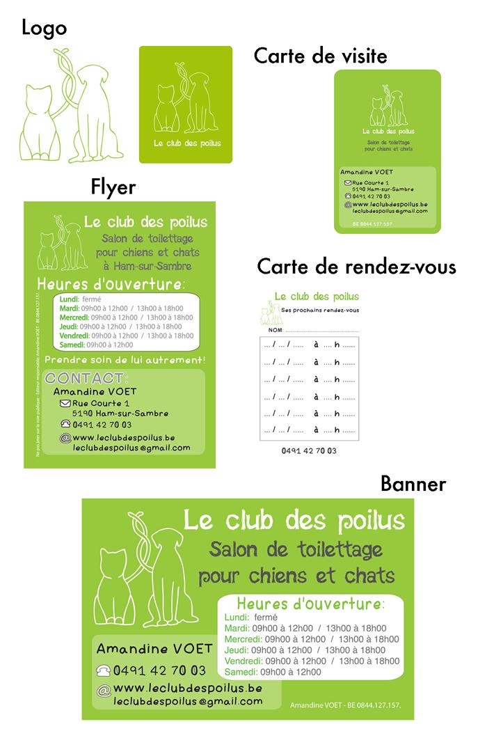 Charte Graphique Amandine Voet Le CLub Des Poilus | Bélinda Dessoy