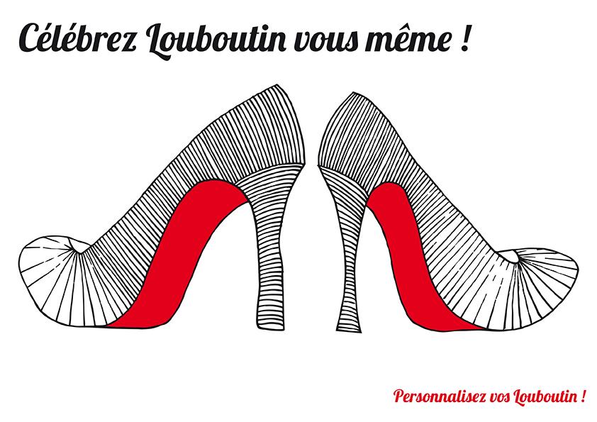 Dessin de chaussures Louboutin