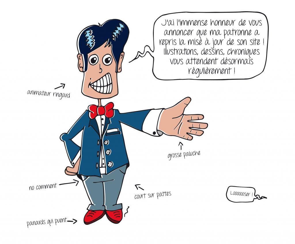 Illustration d'un animateur ringard