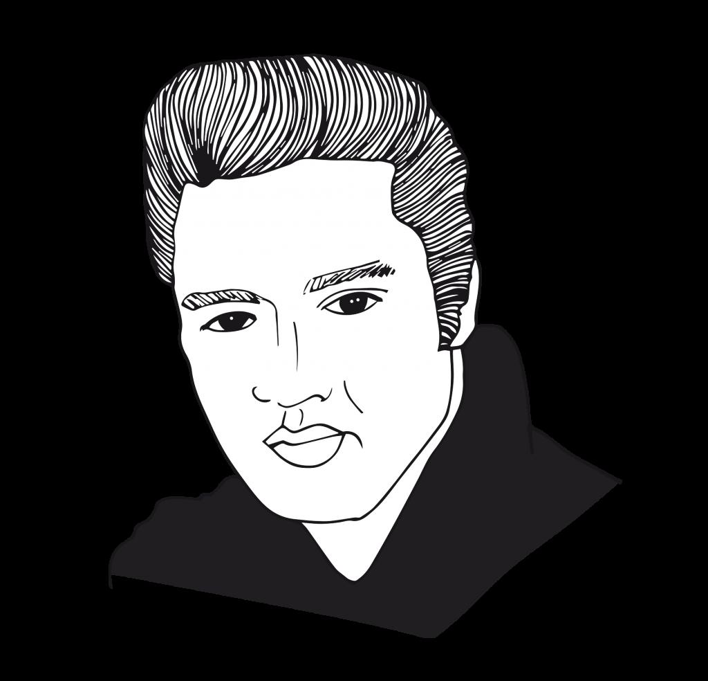 Dessin d'Elvis Presley